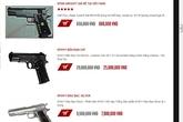 Kinh sợ nhiều trang web bán đao, kiếm, súng ống công khai