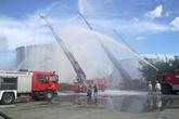 Diễn tập sét đánh khiến Tổng kho xăng dầu Đà Nẵng bốc cháy