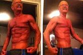 Cụ già 64 tuổi khoe cơ bụng 6 múi cuồn cuộn