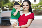 Diễn viên Kiều Thanh khoe con trai 2 tuổi kháu khỉnh