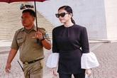 Lý Nhã Kỳ được quân đội Indonesia tháp tùng