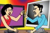 Bẽ bàng vợ chồng khẩu chiến trên Facebook