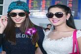 Lâm Chi Khanh đón Hoa hậu chuyển giới Thái Lan ở sân bay Tân Sơn Nhất