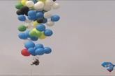 Vượt 6 km biển bằng 160 quả bóng bay