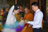 Lễ cưới theo nghi thức Phật giáo của ca sỹ Mỹ Dung