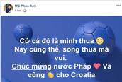 '50 sắc thái' cảm xúc của sao Việt khi tuyển Pháp giành chức vô địch World Cup 2018