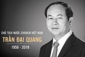Đề nghị chỉ dùng băng tang, không mang vòng hoa viếng Chủ tịch nước Trần Đại Quang