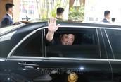 Chủ tịch Triều Tiên Kim Jong-un rời Hà Nội, di chuyển đến ga Đồng Đăng