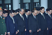 Lễ viếng nguyên Chủ tịch nước - Đại tướng Lê Đức Anh
