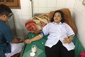 Cán bộ y tế ở đảo xa nhất Vịnh Bắc bộ hiến máu cứu bệnh nhân vỡ thai ngoài tử cung