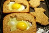Thực đơn bữa sáng cho bé: Bánh mỳ trứng
