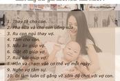 """Mẹ bỉm sữa nô nức chấm điểm chồng theo trào lưu """"10 việc khi vợ sinh, chồng làm được bao nhiêu"""""""