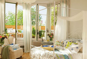 Phòng ngủ theo style đồng quê tuyệt đẹp này sẽ xua tan cái nóng ngày hè
