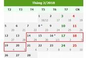 Chính phủ dự kiến quyết thời gian nghỉ Tết bảy ngày