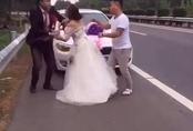 """""""Can tội"""" mặc váy sexy để chụp ảnh cưới, cô nàng bị người yêu đấm ngay giữa studio"""