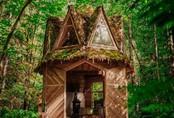 Ngôi nhà nhỏ xíu kiểu cabin đẹp như trong truyện cổ tích, nhìn phòng ngủ sẽ càng thấy bất ngờ