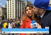 Nữ phóng viên bị sàm sỡ ngực ngay trong lúc tường thuật trực tiếp không khí World Cup 2018
