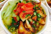 Ngọt ngào bánh đa cá rô đồng trong nắng thu hanh vàng