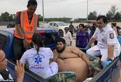 30 người vật lộn giải cứu thanh niên nặng hơn 300 kg ở Thái Lan