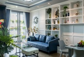 Căn hộ màu xanh với thiết kế đẳng cấp như không gian châu Âu trong lòng Hà Nội dành cho gia đình 3 thế hệ