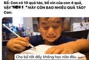 Bị bố quát vì làm mãi vẫn sai bài toán, cậu bé khóc mếu: Cho bố tất, không học nữa!
