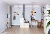 Căn hộ 75m² ấm cúng với thiết kế khu vực lưu trữ thông minh dành cho vợ chồng trẻ