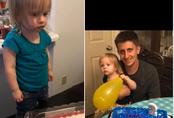 """Đón sinh nhật 2 tuổi, cô bé chưng hửng khi thấy dòng chữ trên bánh kem, khuôn mặt đáng thương ấy trở thành """"trò cười cho thiên hạ"""""""