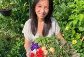 Cô gái trẻ biến sân thượng 20m² thành khu vườn hữu cơ trồng không thiếu thứ gì