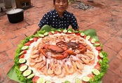 Bà Tân Vlog làm món cơm hải sản siêu to khổng lồ, nhưng dân mạng khó hiểu vì cách làm lạ lùng có 1-0-2
