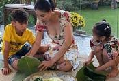 Giỏi giang trên thương trường, lộng lẫy ở sân khấu, Hoa hậu Hà Kiều Anh vẫn biết gói hơn 100 cái bánh chưng đón Tết