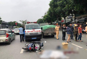 Xe tải tông thiếu nữ 15 tuổi đi xe đạp điện tử vong