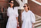 Những kiểu váy trắng mùa hè