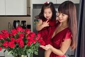 Con gái lai Tây của Hà Anh phấn khích khi bố mẹ ở nhà cùng vào bếp làm bánh siêu đáng yêu