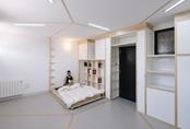 Mãn nhãn căn hộ nhỏ 24m² với tường di động để bạn có thể vừa nghỉ ngơi vừa làm việc trong những ngày ở nhà dài hơi