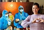 Hoa hậu Khánh Vân tự vẽ tranh và đấu giá để ủng hộ chống dịch COVID-19