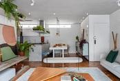 Căn hộ 116 m2 như resort với võng, ghế lười