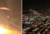 Hành khách hú vía vì động cơ máy bay Mỹ khạc lửa giữa trời