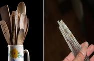 """Đũa gỗ, thìa gỗ """"sạch bay"""" ẩm mốc nhờ những nguyên liệu đầy trong nhà bếp"""