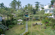 Biệt thự xanh có 2 vườn treo cạnh hồ Đại Lải