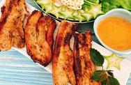 Thịt ba rọi nướng chao cho trưa cuối tuần