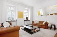 Không màu mè rực rỡ, căn hộ này vẫn vô cùng hút mắt với 2 gam màu cơ bản