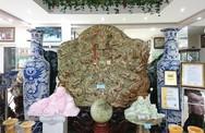 Bức tranh ngọc tạc 9 con rồng của đại gia Thái Nguyên được trả 10 tỷ vẫn chưa bán
