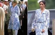Meghan bị 'soi' khi mặc váy hoa giống cố Công nương Diana