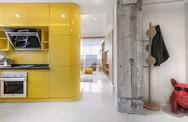 Căn hộ 48m2 truyền cảm hứng cho nhiều người khi sử dụng hộp lưu trữ khắp nơi kể cả phòng ngủ