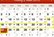 Hoán đổi ngày lễ, nghỉ Tết 2015 như thế nào?