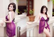 """Mỹ nữ Việt """"nóng bỏng"""" khi diện váy ngủ mong manh"""