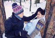 Diễm Hương sát ngày sinh vẫn đi chơi tuyết cùng chồng