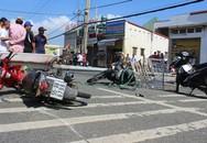 Hi hữu: Cột đèn đường bỗng nhiên đổ sập, 3 người bất tỉnh