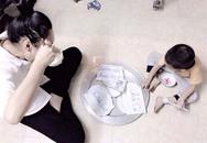 Nỗi buồn sau bức ảnh bữa cơm giấy của mẹ đơn thân 9X