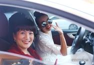 Thanh Hằng chở vợ Bình Minh đi event